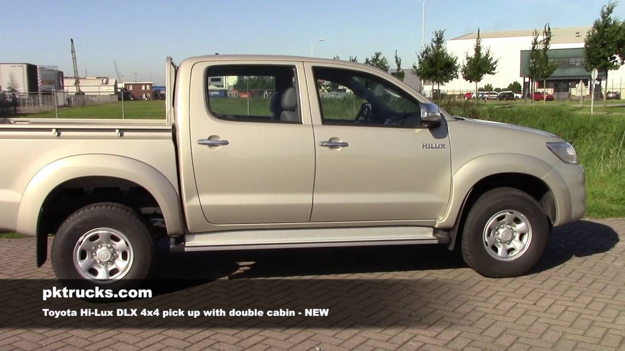 to3790 toyota hi-lux 4x4 pick up with double cabin - youtube