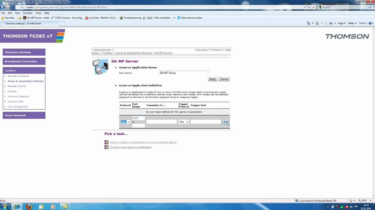 thomson gateway tg789 manual