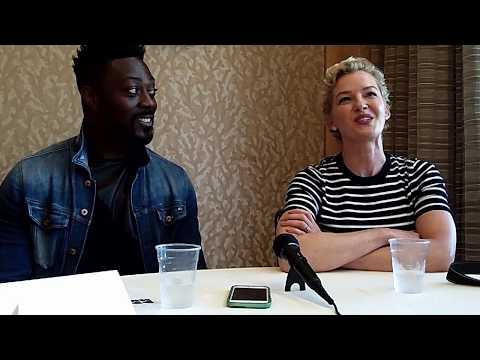 With David Ajaya & Gretchen Mol of Syfy's Nightflyers at ComicCon 2018
