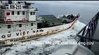 Tàu kiểm ngư Việt Nam KN 213. Đâm va tàu chiến KRI Tjiptadi của Indonesia trên vùng biển Việt Nam