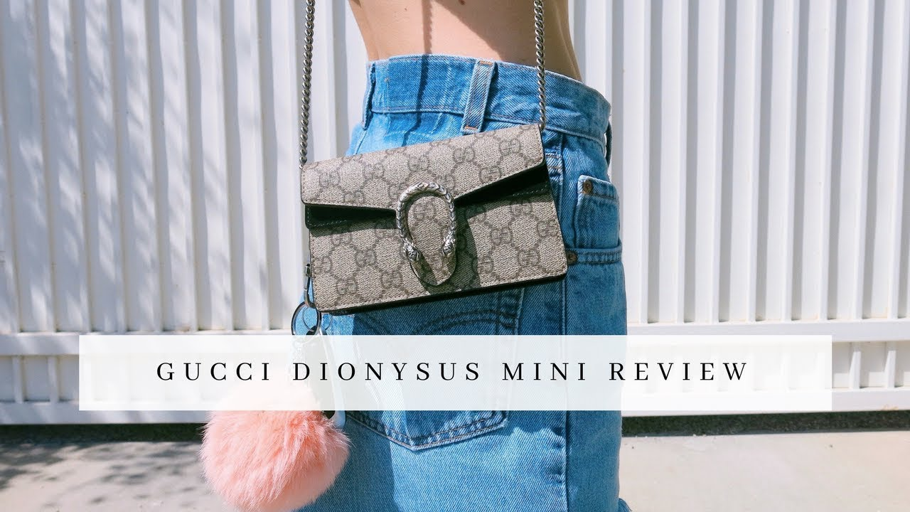 faed93e868e Gucci Dionysus Super Mini Bag Unboxing + Review - YouTube