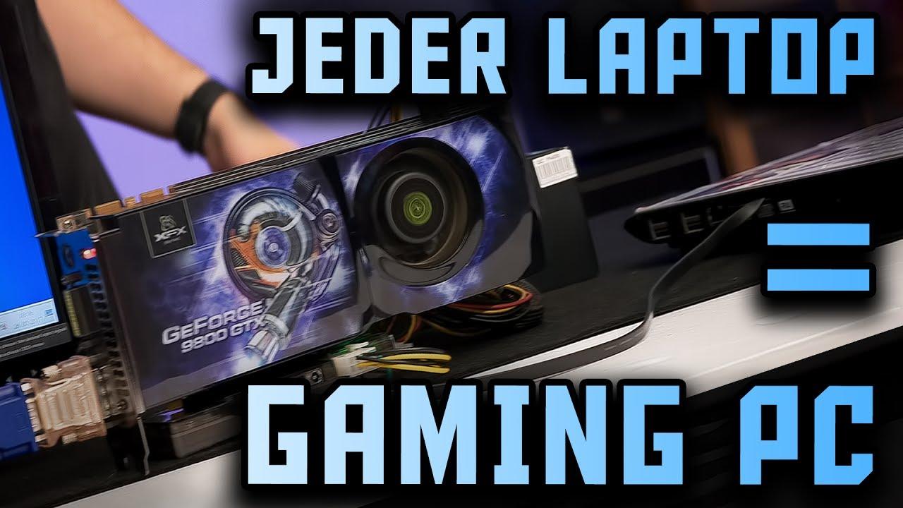 DIESER ADAPTER MACHT JEDEN LAPTOP ZUM GAMING PC! AUCH BEI MAC! (Externer PCI-E Adapter Test/Review)