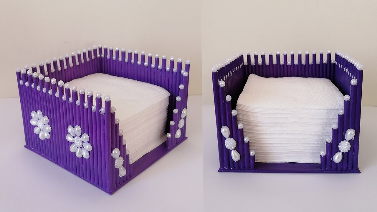 Atık Kağıttan Kullanışlı Peçetelik Yapımı / How to Make a Napkin Holder with Waste Paper