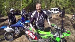 Эндуро-школа  - Как развернуть мотоцикл на месте