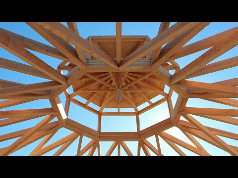 Building A 70' Clear Span Timber Frame Octagon