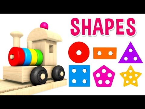 Thumbnail: Learn Shapes with Preschool Toy Train - Learning Shapes Videos for Kids