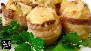 Это Нереально Вкусно! Картофель Фаршированный Сыром в Духовке!