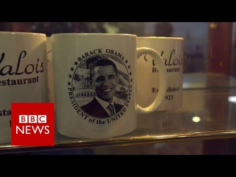 Route 45: Inside one of Obama's favourite diners - BBC News