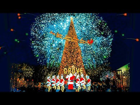 Scenes From The Christmas Tree Lighting Ceremony At the Grove, Los Angeles