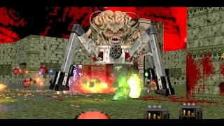 "BRUTAL DOOM on Steroids! ""Project Brutality""   4K  All Bosses Doom 1   Hardest Difficulty, No cheats"