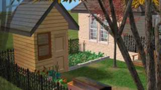 Sims 2 Tutorial - Building A Simple Garden Shed