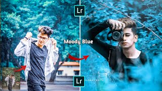 Moody Blue Effect Photo Editing In Lightroom Lightroom editing Lightroom mobile tutorial