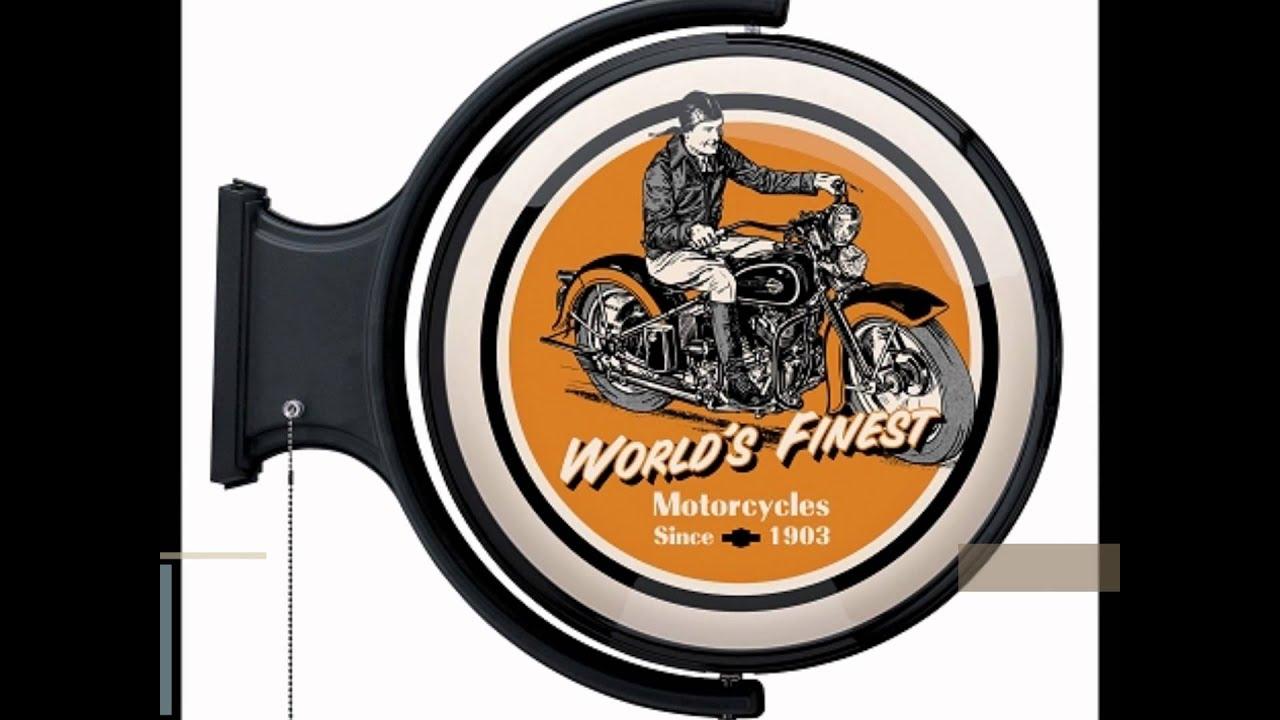 Harley Davidson World S Finest Rotating Pub Light Youtube