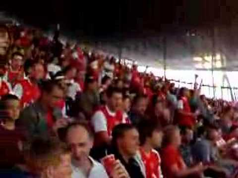 """Arsenal Fans Singin """"we're by far the greatest team"""""""