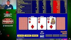 Double Double Bonus Video Poker LIVE [Online Gambling with Jersey Joe # 3]