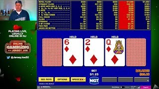 Double Double Bonus Video Poker LIVE [Online Gambling with Jersey Joe # 3]