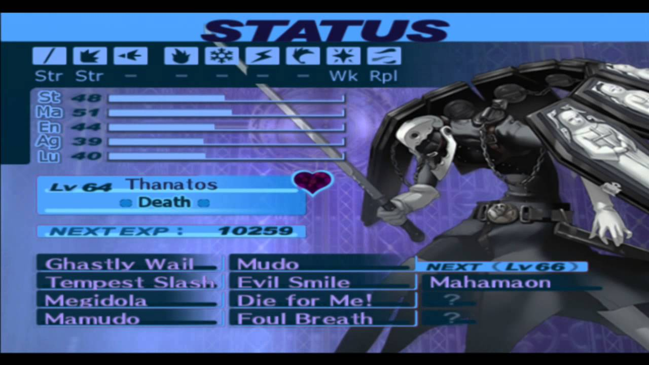 Persona 3 Fes Special Fusion Thanatos
