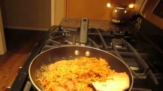 Tofurky Chorizo, Refried Vegetarian Beans, & Jalapeno Dinner