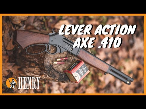 First Shots With The Henry Lever Action Axe .410