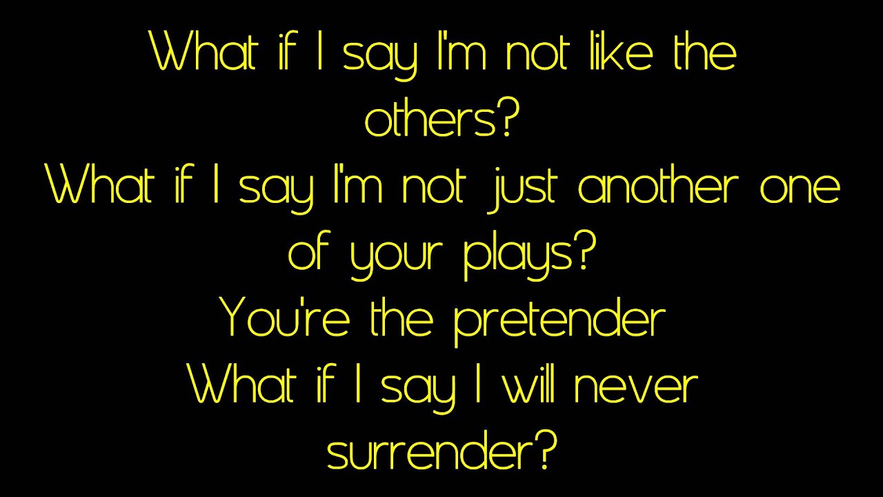 The Pretender- Foo Fighters (with lyrics) - YouTube