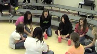 Cups with Simone, Rachel, Hunter, Faith, Royanne, Brittany, Elizabeth, and Liesl
