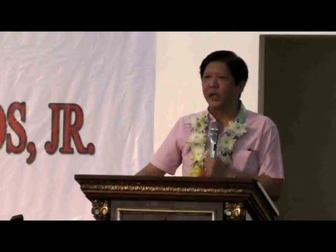 Sen. Bongbong Marcos  - Philippine Merchant Marine Academy