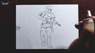 İmparatorluk Muhafızı Nasıl çizilir? Asker Çizimi