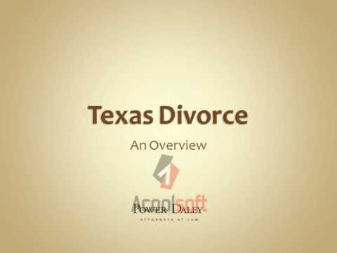 An Overview of the Divorce Process in Texas