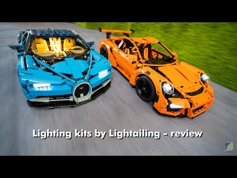Light kits by Lightailing for LEGO Technic 42083 Bugatti Chiron & 42056 Porsche 911 GT3 RS - review