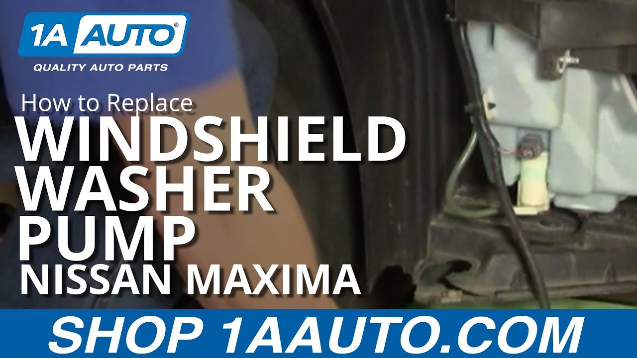 How To Install Replace Windshield Washer Pump Nissan