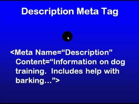 SEO Education 101 - Understanding meta tags