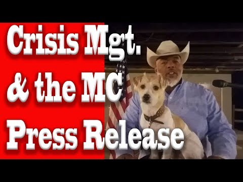 Crisis Management and the MC Press Release