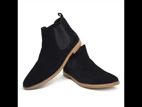 Xelay Mens Smart Casual Slip On Suede Desert Chelsea Ankle Boots Shoes Size 6-11