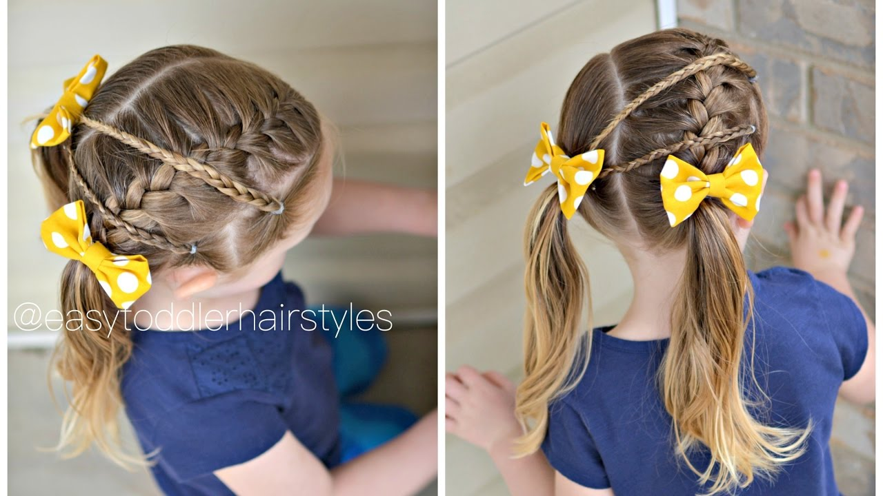 Hair Styles For Toddlers: Kids Hairstyle: Side French Braid & Micro Braids