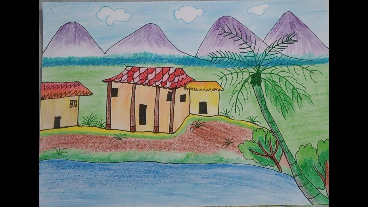 Cách vẽ tranh phong cảnh đơn giản
