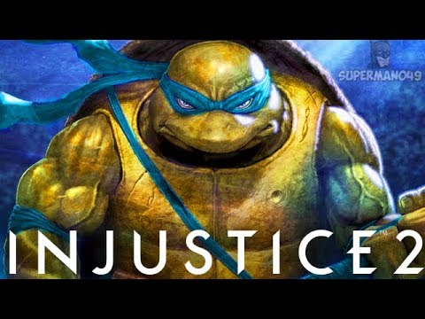 100% Damage In 18 Seconds With Epic Leonardo! - Injustice 2 'Ninja Turtles' Leonardo Gameplay