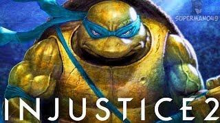 "100% Damage In 18 Seconds With Epic Leonardo! - Injustice 2 ""Ninja Turtles"" Leonardo Gameplay"