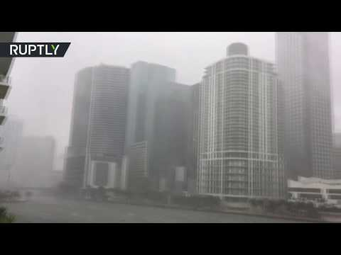 Extreme winds churn the sea as Hurricane Irma approaches Miami
