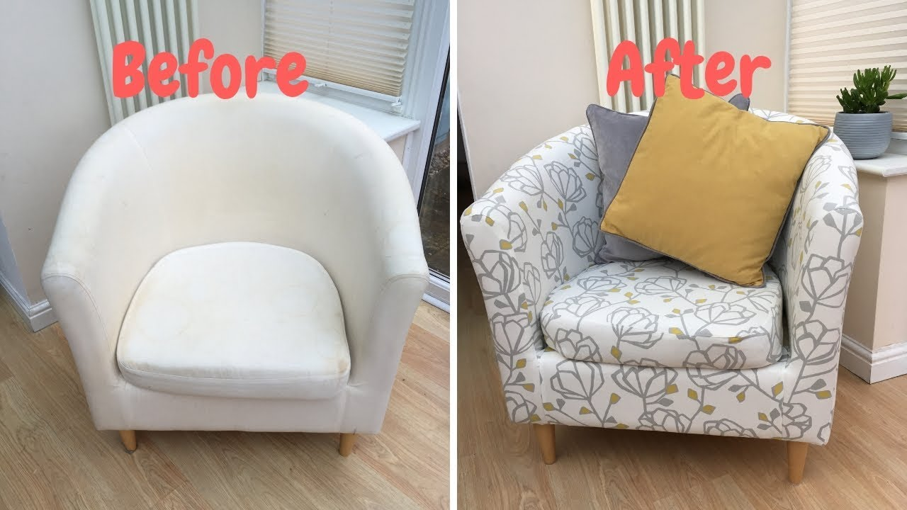 How To Re Cover An Ikea Tub Chair Youtube