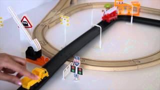 Железнодорожный переезд, авария на железной дороге (развивающие мультики для малышей)