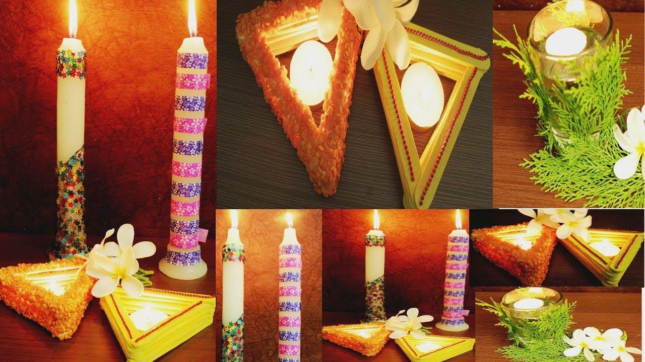 6 DIY: Diwali Decoration Ideas 2017/ Easy U0026 Quick | Room Decoration Ideas