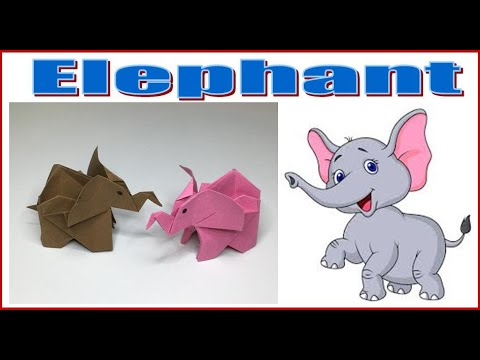 Origami ELEPHANT #1 - A to Z DIY ORIGAMI PAPER CRAFT