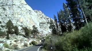 Motorcycle ride in eastern California