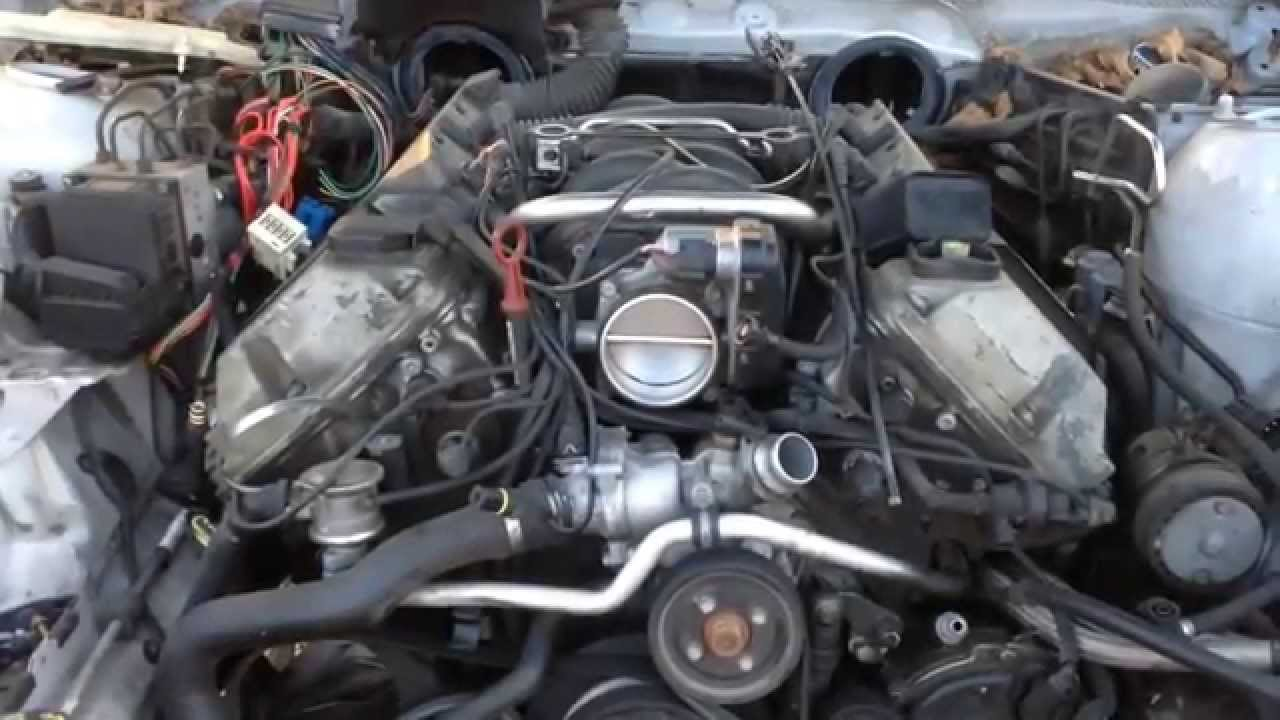 BMW M62 M62tu Leaking Valley pan gasket reseal replacement e38 e39 e53 540i 740i x5  YouTube