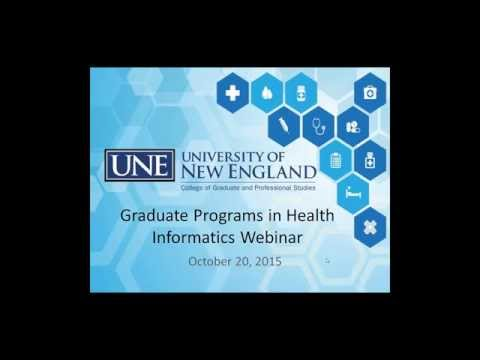 Graduate Programs in Health Informatics Webinar