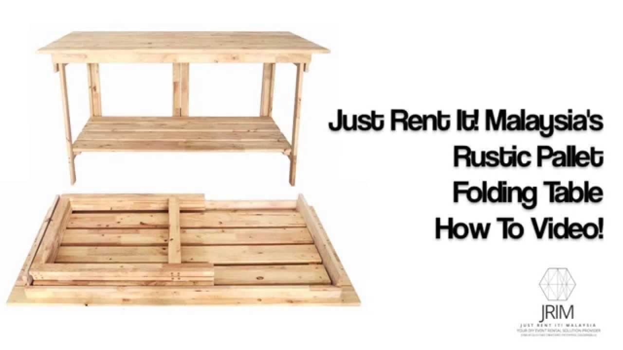 Just Rent It Rustic Pallet Folding Table