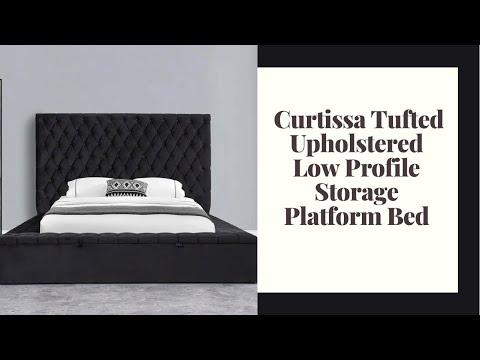 Ruthann Geralyn Upholstered Storage Platform Bed Youtube