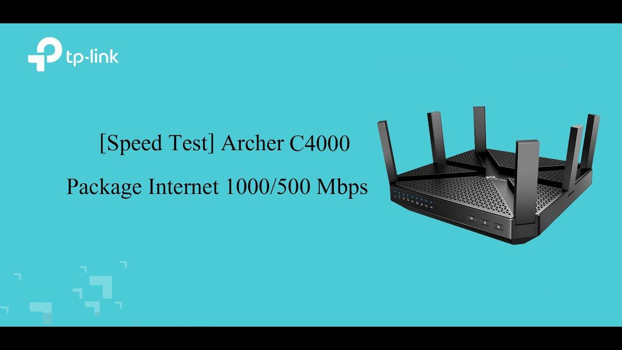 Speed Test Archer C4000 Youtube