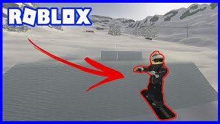 For the first time in my life I was on SNOWBOARD! ROBLOX