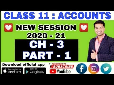 Class 11 : ACCOUNTS : Ch - 3 (Theory Base of Accounting)